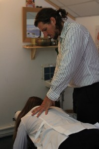 Chiropractic Adjustment at the Gower Chiropractic Centre